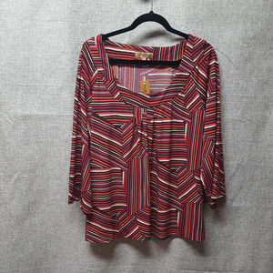 Notations NWT Rounded Neck  Topw/flared Sleeves 3X